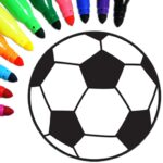 Football coloring book game 15.9.0 MOD Unlimited Money