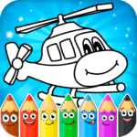 Coloring pages for children transport MOD Unlimited Money