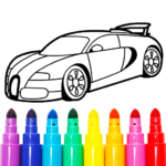 Learn Coloring Drawing Car Games for Kids 11.0 MOD Unlimited Money